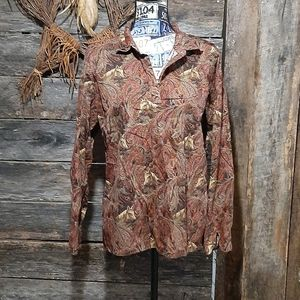 Beautiful horse and paisley print top